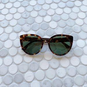 J .Crew Oversized Round Tortoise Sunglasses